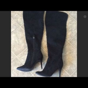 Size 9 thigh high suede boots